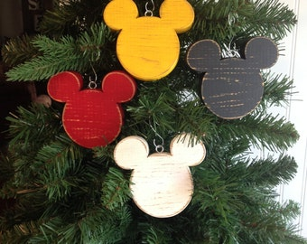 Disney Christmas Ornament | Mickey Mouse Ornament | Disney Wood Ornament | Disney Fish Extender