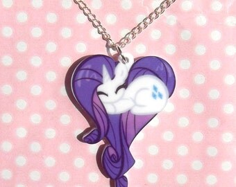 Rarity My Little Pony Friendship Is Magic sleeping heart necklace