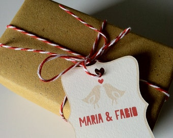50 Wedding Favour Tags-50 Labels for favors
