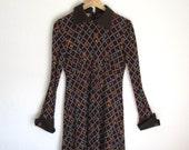 The TEAPOT Dress - Vintage 70s Tricot De Luxe St. Honore Dress - Size M/L