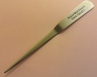 Stainless steel letter opener  satin finished