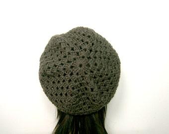 CROCHET BERET PATTERN, Crochet Hat Pattern, Crochet Pattern, Crochet Beret, Womens Hat, Beret Hat, Instant Download, Beret, Crochet (B34)