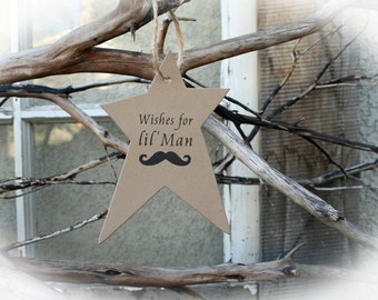 25 Baby Shower Wishing Tree Tags -Baby Shower Game // Baby Shower Wishing Tree- Lil' Man Shower