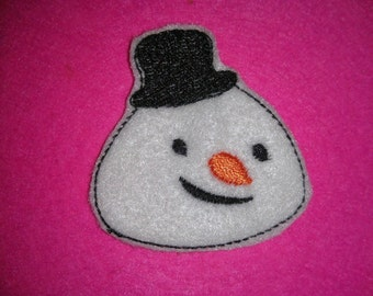 Set of 4 Doc McStuffins Mc Stuffins Chilly Snowman Face Felties Feltie Felt Embellishment Bow! Doctor Girl Oversize Oversized Extra Large