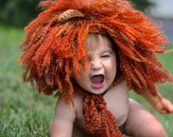Lion Hat/Lion Hat Prop/Crochet Photography Prop/Lion Mane/Photo Shoot Lion Hat/Lion Halloween Costume/Cat Hat/Newborn Prop/Lion King Hat