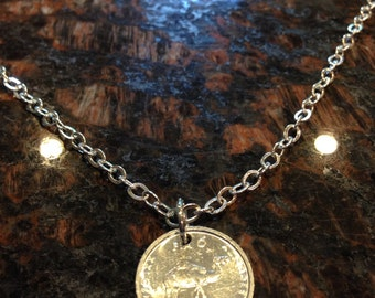 Somalia 10 shillings coin necklace