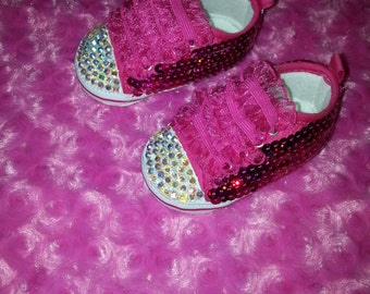 Pink Bling Crib Shoes