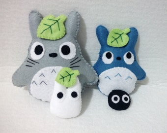 Totoro family plushies ornaments collectibles Studio Ghibli character eco friendly