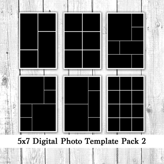 5x7 photo template pack photo collage card templates photoshop elements illustrator. Black Bedroom Furniture Sets. Home Design Ideas