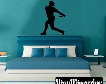 Baseball Vinyl Wall Decal or Car Sticker - baseballst014ET