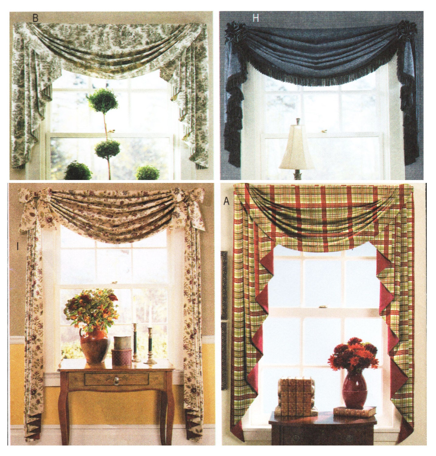 Waverly Window Treatments Home Decor Swags And Jabots Sewing