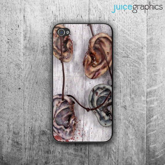il 570xN.628489592 zze1 The Walking Dead iPhone Case. Walker's ear necklace phone cover. Case For   iPhone 4/4S   iPhone 5/5S   iPhone 5C   iPhone 6 by JuiceGraphics