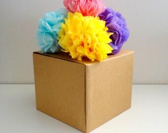 20 mini tissue paper pom poms   DIY wedding   Napkin pom   Gift pom pom