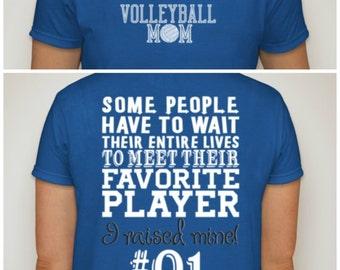 Volleyball Mom t-shirt  Proud Volleyball Mom Shirt Sports Fan Cheer S M L XL XXL