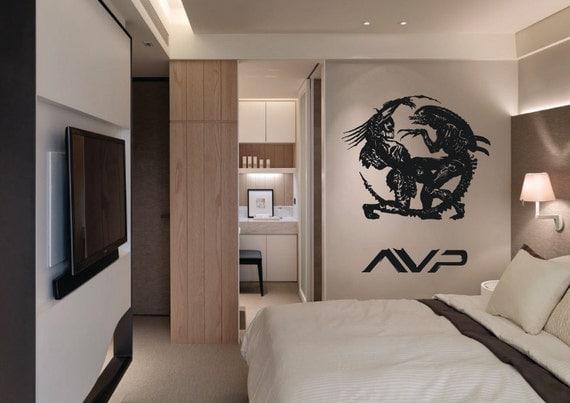 Giant alien vs predator avp yin yang movie wall by for Chambre yin yang