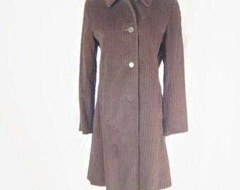 Vintage Button Front Coat by Larry Levine 100% Cotton