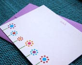 Flat Notecards -- Flower Dots // Custom Notecards // Personalized Stationery // Monogram Stationery // Floral Notecards // Bridesmaid Gift