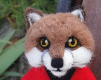 Meet Mr Foxy - large needle felted fox-hunting fox