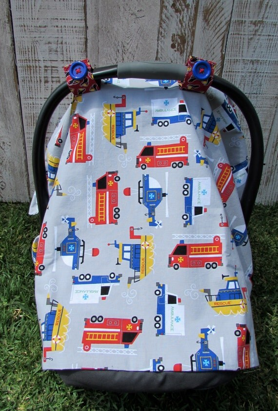baby boy fire truck ambulance and rescue helicopter car seat. Black Bedroom Furniture Sets. Home Design Ideas
