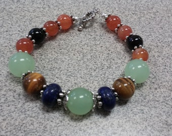 Chakra Balancing Bracelet  - Reiki Charged Healing Gemstone Jewelry for Good Luck and Prosperity