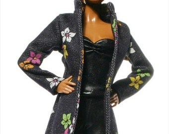 Handmade clothes for Barbie (jacket): Blau