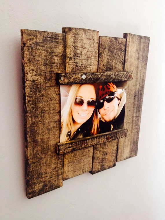 Items similar to reclaimed wood pallet picture frame on etsy for How to make vintage frames