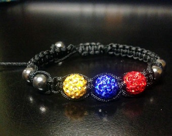 Shamballa Friendship Disco Ball Venezuelan Bracelet - SOS Venezuela - Show your support