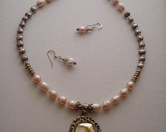 Freshwater Pearls & Sterling Silver Necklace