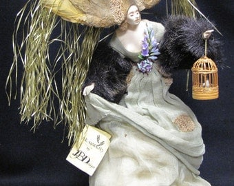 """Beautiful Jacques Dorier Forest Maiden Doll 13"""" Tall"""