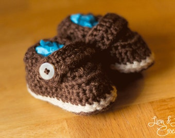 Crochet Boat Shoe for Baby