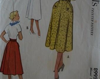 1952 McCalls Vintage Skirt Pattern 8995