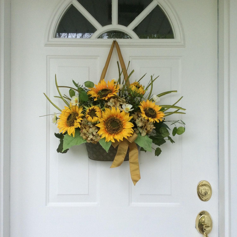 Summer Wreaths Sunflower Wreaths Front Door Decor Fall