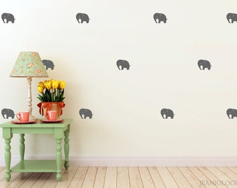 Elephants Vinyl Wall Art Decal