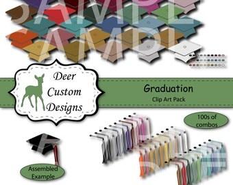 Graduation Clip Art | Graduation Clipart | 90 Digital Graduation PNG | Instant Download | Commercial Use | Graduation Cap Tassel