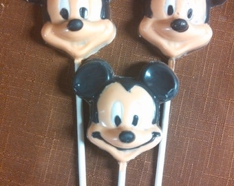 Minnie and Mickey chocolate pops are now available. Perfect for that child's Birthday Party favors.