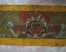 Batik of Kukulkán, the Mayan God of the Wind and Planet Venus