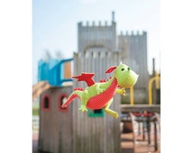 Daron the Dragon Toy Sewing Pattern