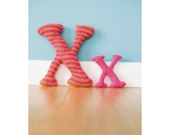 Knitted Letter X Knitting Pattern 803507