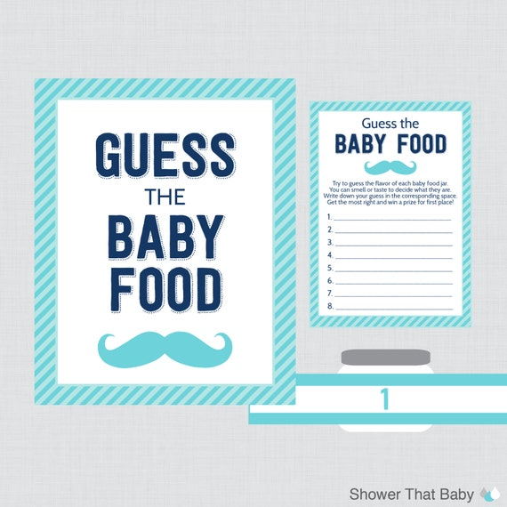 Enterprising image in guess the baby food game free printable