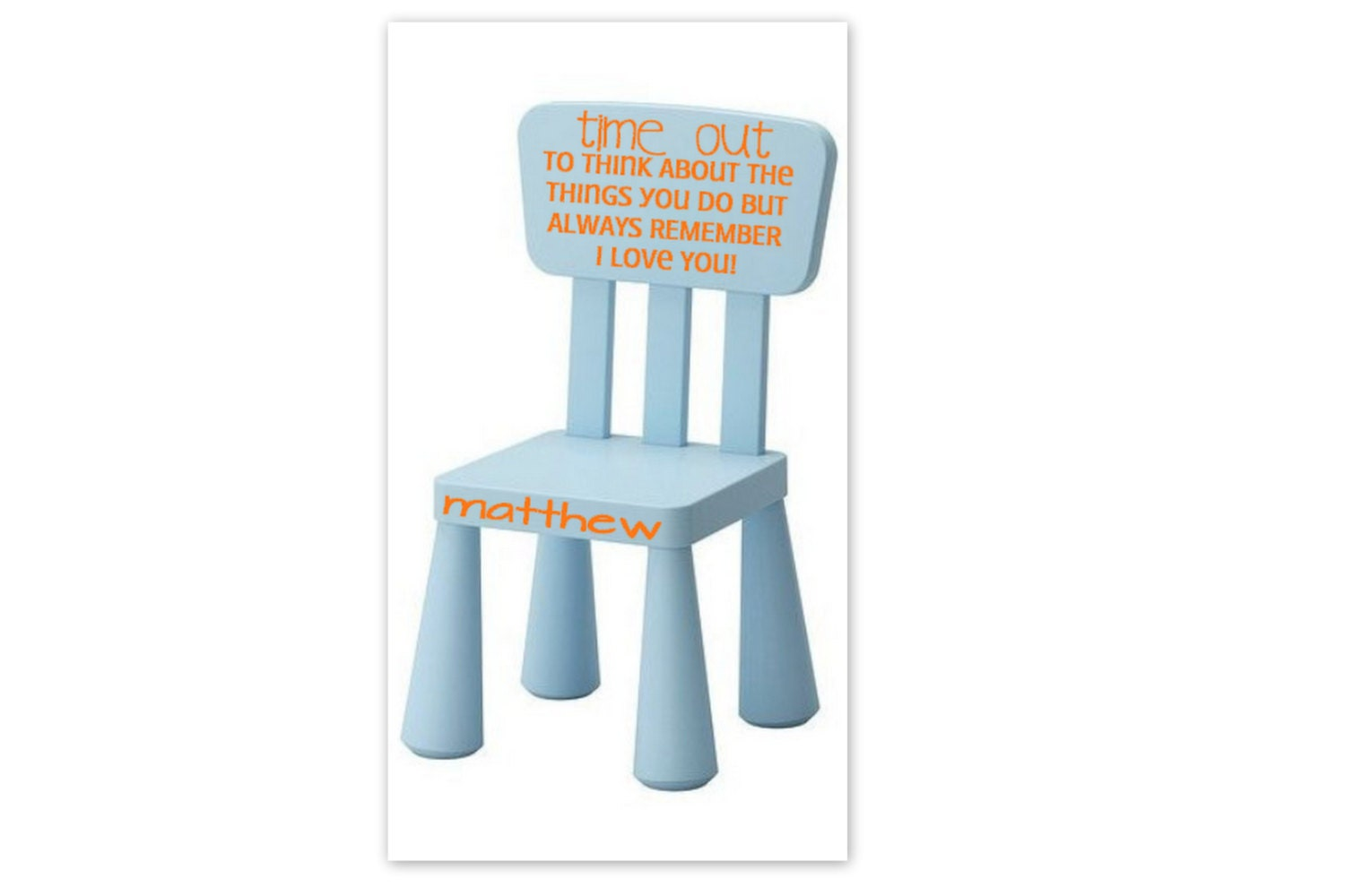 Time Out Vinyl Decal Toddler Time Out Chair Decal