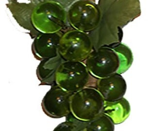 ON SALE WAS 19.99...Vintage Lucite Green Grapes