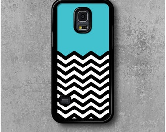 Samsung Galaxy S5 Mini Case Azure chevrons + Free Worldwide Shipping