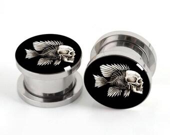 NEW! Fish-Bow  Ear Plugs Gauges Piercings CHOOSE SIZE,Women Body Piercing