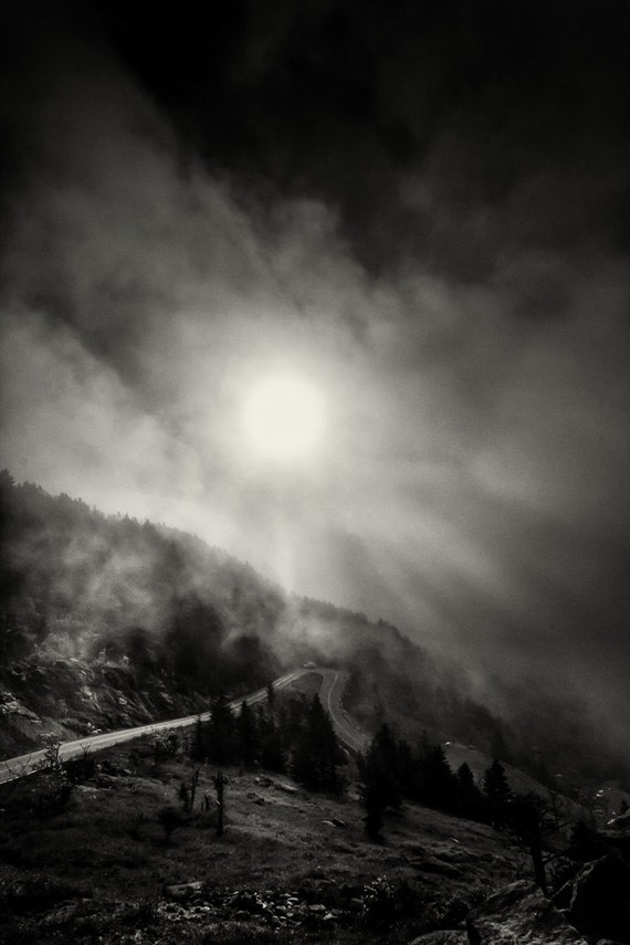 Winding Mountain Road Black And White By Paulcoryphotography