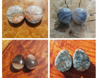 Maker's choice stone plugs - stone plugs - teardrop plugs