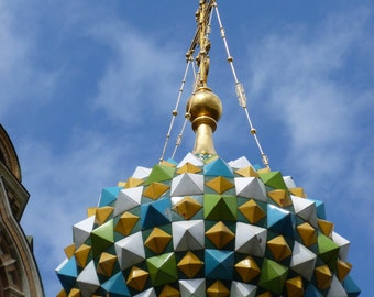 Onion dome on St. Petersburg Russia Church Photograph, Ready to Frame, Made to order sizes!