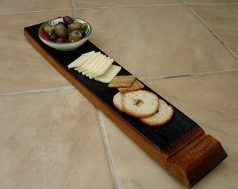 wine barrel stave cheese paddle