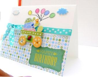 Kids Birthday Card, First Birthday Card, Boys Birthday, 1st Birthday card, Baby Birthday, Milestone Birthday, first bday, happy bday card