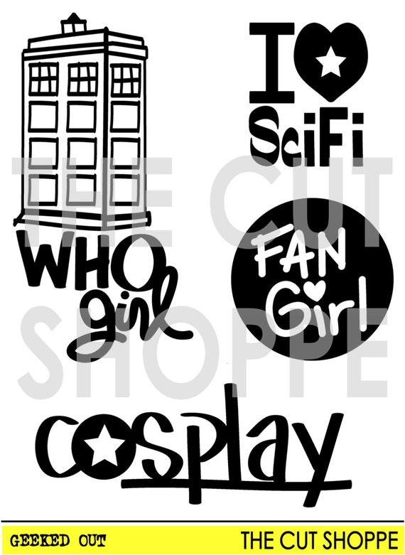 The Geeked Out cut file, consists of 4 SciFi themed icons, that can be used on your scrapbooking and papercrafting projects.