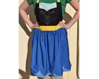 PRICES REDUCED! ~ Frozen Anna Dress Up Adult Apron ~ Basic or Decorative Princess Costume Apron for adults ~